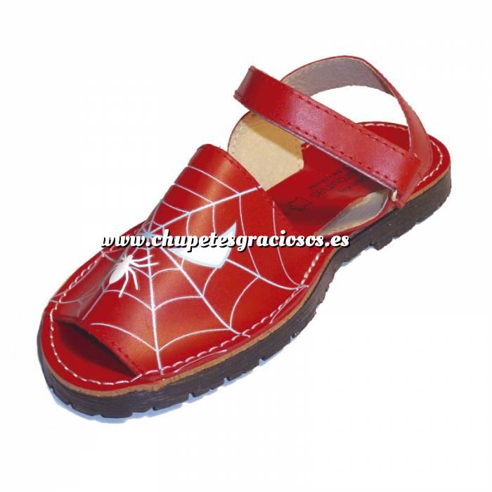 Imagen Spiderman Avarca - Menorquina piel niño Spiderman Talla 30