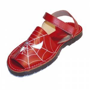 Imagen 625_Avarca - Menorquina piel niño Spiderman Talla 25